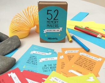 Father's Day Gift, 52 Memory Makers - fun activities for family time, Family fun, challenge cards, Gift for Parents / Family Gift