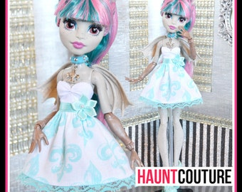 "Monster Doll ""Bleu Ghoul"" high fashion doll clothes dress"