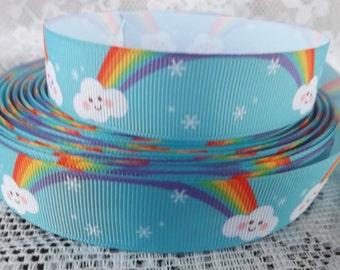 Rainbow ribbon happy rainbow ribbon 7/8 Grosgrain ribbon