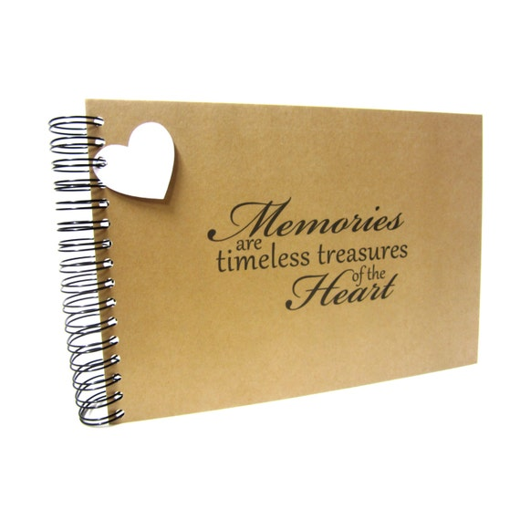 A5 A4, Memories are Timeless Treasures Scrapbook, Landscape, Card Pages, Photo Album, Keepsake