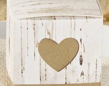 "Rustic Birch Favor Boxes 24 Pieces 2x2x2"" Party Supply Box; Wedding Favor"
