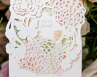 Floral Wedding Favor Boxes - Always and Forever on Front - Package of 10