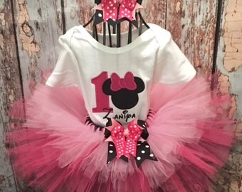 Minnie Mouse Tutu Set, Minnie Mouse Tutu, Minnie Tutu Set, Minnie Birthday Set, Minnie Birthday Tutu, Minnie Birthday Tutu Set, Minnie Tutu