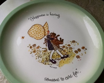 Vintage Holly Hobby Plate - Happiness is Having Someone to Care For