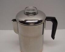RESERVED For Ernest - Vintage Revereware Copper Clad Percolator, Coffee Pot, 8 Cup, Pre-1968