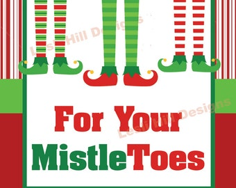 Adaptable image throughout for your mistletoes printable