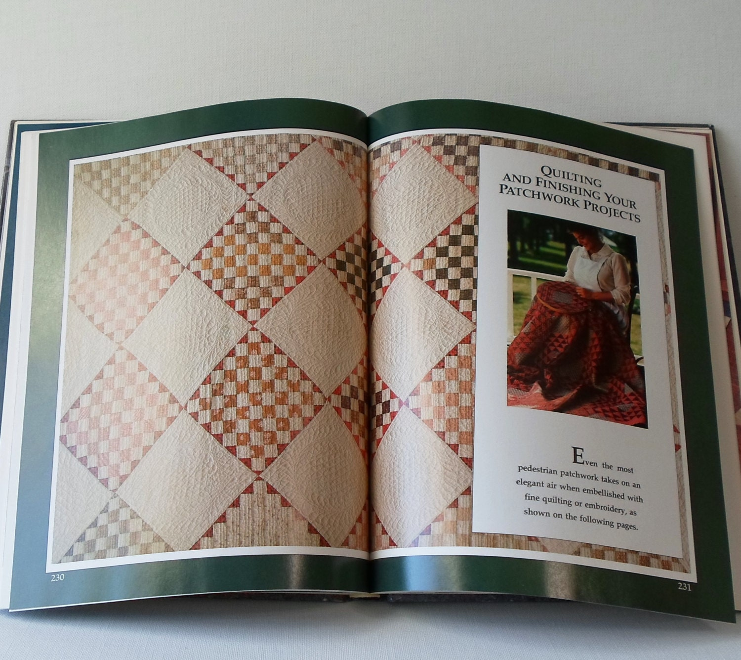 Vintage quilt book american patchwork quilting 1985 from for Patchwork quilt book