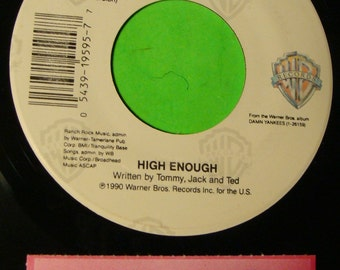 DAMN YANKEES Ted Nugent High Enough Pile Driver Mint Warner Jukebox Promo 45 Record With Ts Title Strip !!