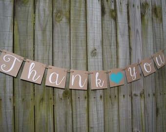 Wedding Banner -  THANK YOU Banner Engagement Party Decoration - Photo Prop
