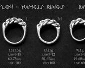 Viking Age Latvian Namejs ring in sterling silver