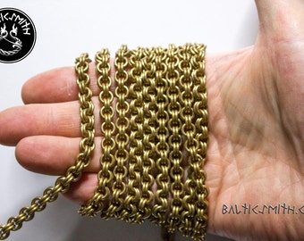 Replica Baltic / Finnic late Iron Age handmade double cable chain (priced per cm)