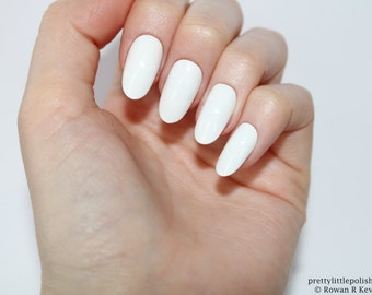Matte white coffin nails nail designs nail art nails white oval nails nail designs nail art nails stiletto nails acrylic prinsesfo Image collections