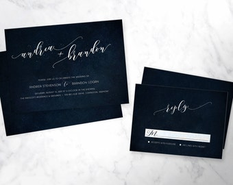 STARRY SKIES | wedding invitation set