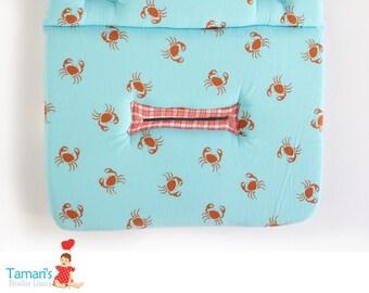 SALE- Stroller Liner, Baby Stroller Pad, Buggy Liner, pram liner, pram cover, Lobsters print