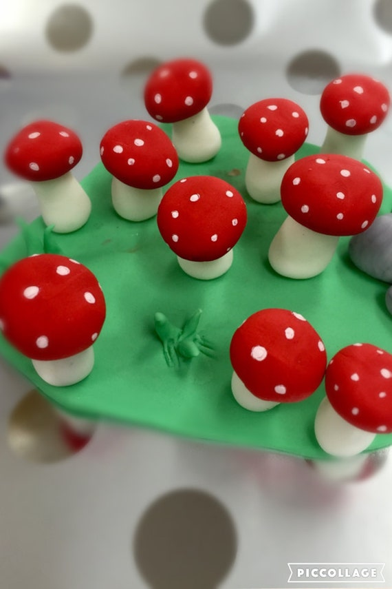 Toadstool Cake Toppers