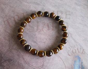African roar tiger eyes bracelet