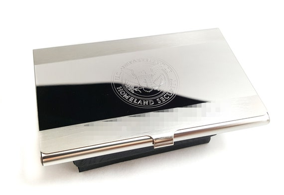 Personalized business card holder gifts for by for Personalized business card holder for men