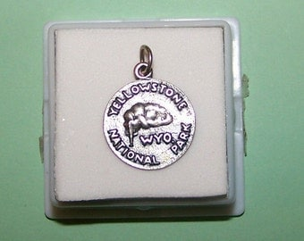 Vintage YELLOWSTONE PARK Sterling  Silver Charm  --Wyoming