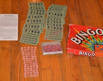 Vintage 1950's BINGO game