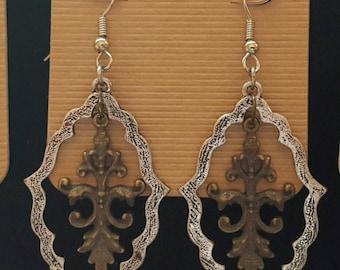 Filigree Style Chandelier Earings