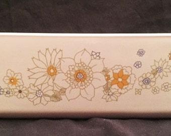CorningWare Floral Bouquet patterned 2 qt bread loaf pan