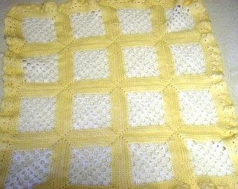 Baby Afghan Yellow