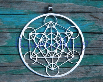 Metatron's Cube pendant (1 inch) - Stainless Steel