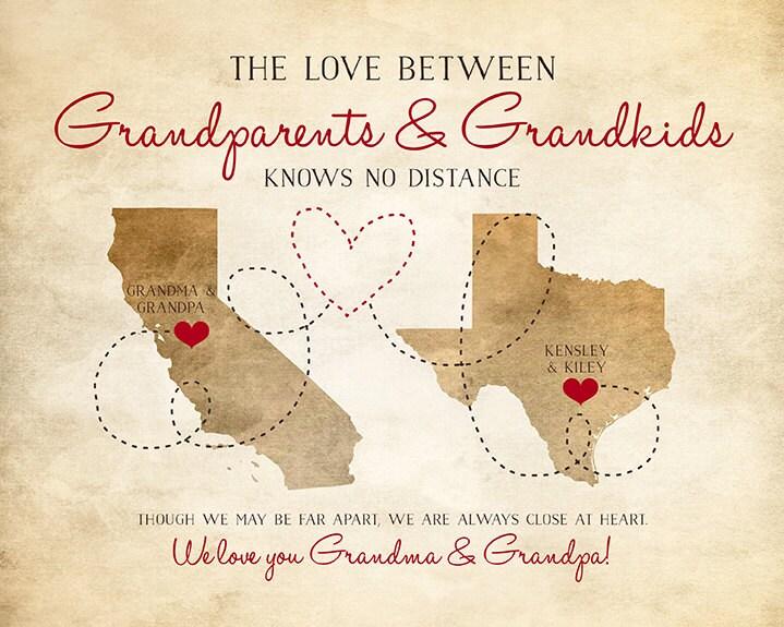 Love Knows No Color Quotes: Grandparents Gifts Nana Grandpa Grandma Papa Long By