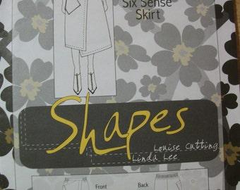 Sewing Workshop Shapes Six Sense Skirt Size 1 (XS-S) 2 (M-L) and size 3 (XL-XXL)