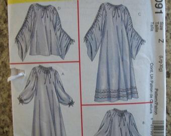 McCalls' 4091 Misses (Size Z: L - XL) chemise in 2 lengths