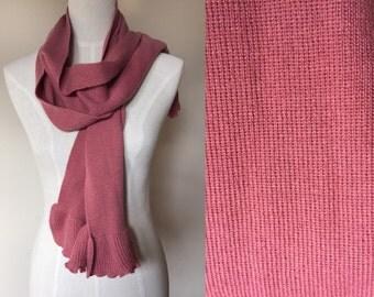 vintage pink scarf // rose pink scarf // dusty pink scarf // vintage scarf