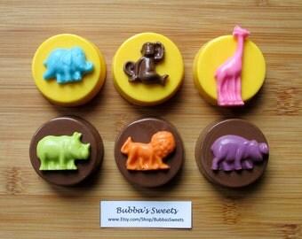 SAFARI ANIMAL Chocolate Covered Oreos (12) - SAFARI Birthday/Zoo Party