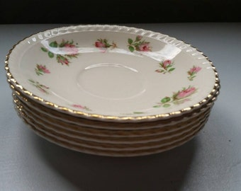Set of 6 English Saucers, WindsorWare by Johnson Bros