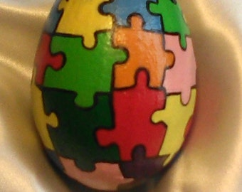 Hand painted Egg /Puzzle
