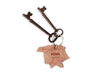 Roma Map Keychain