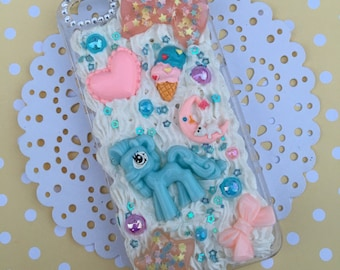 SALE! Clearance My little pony inspired kawaii decoden case, decoden for iphone, kawaii decoden cases, fake frosting phone case, decoden