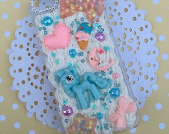 LIQUIDATION SALE! Clearance My little pony inspired kawaii decoden case, decoden for iphone 5/ 5s kawaii decoden cases, fake frosting phone