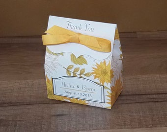 Sunflower Favor Bags, Wedding Favor Bags, Personalized