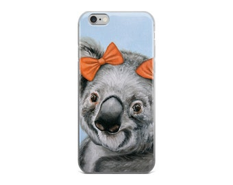 koala cell phone case, koala mobile case, koala clear case,  koala iPhone 5/ 5S, iPhone 5 SE, iPhone6/6S, iPhone6 /6S Plus, iPhone 7/7 Plus