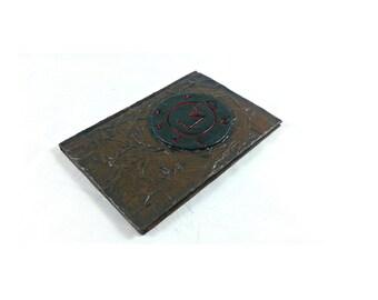 Angel Banishing Sigil mixed media blank journal, Supernatural notebook
