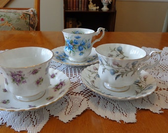 Royal Albert Tea Set  Teacup and Saucer Rosina Teacup and Saucer / Tea Party Teacups / English Teacups