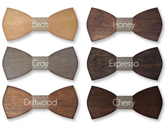 Hand crafted Wood Bow Ties Any occasion stand out! Made to Order in the USA by me! Wooden Bow Tie