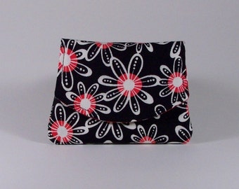 Business Card Holder Small Cotton Wallet Billfold Change Purse