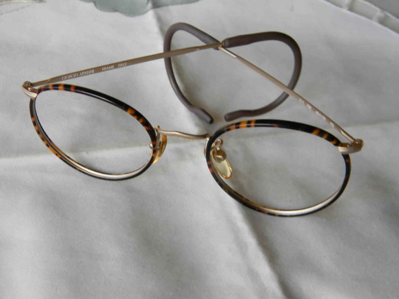 Vintage Armani Glasses Frames : Vintage rare panto Giorgio Armani eyeglasses frame 80 s. Made