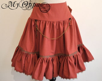 Short Skirt Steampunk  rust