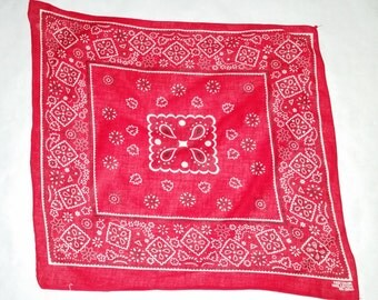 Vintage Red Bandana FastColor (015) rockabilly