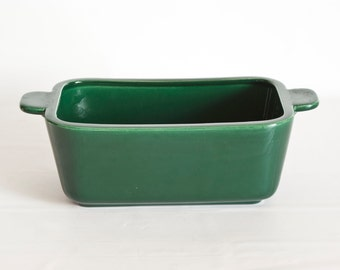 Vintage Franciscan Tiempo Serving Dish Storage Container, Replacement Base Only, Forest Olive Green California Pottery