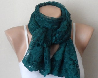 green scarf lace fabric scarf green shawls wrap women accessories fashion scarf gift for her