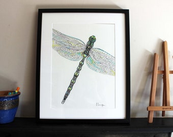 Cropped Dragonfly Original Art