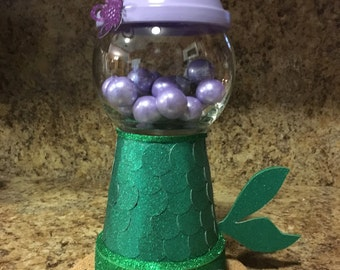 Mermaid Centerpiece, Mermaid candy jar